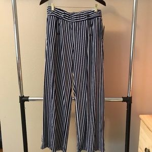 Robert Louis navy and white pin striped pants NWT